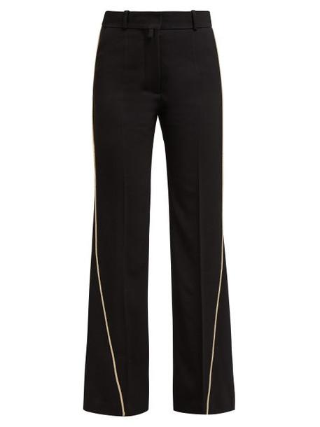 Petar Petrov - Contrast Piping Virgin Wool Trousers - Womens - Black Multi