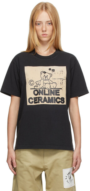 Online Ceramics Black Bear Logo T-Shirt