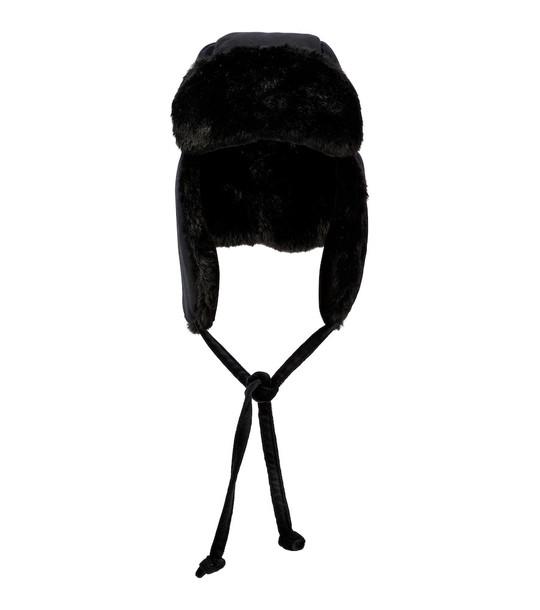 Maison Michel Bibiana velvet hat in black