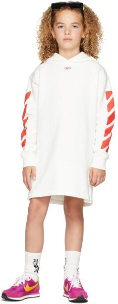 Off-White Kids Stamp Logo Hoodie Dress