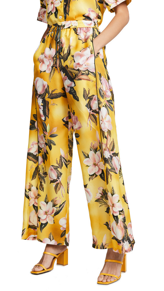 F.R.S For Restless Sleepers Floral Pants in yellow / multi