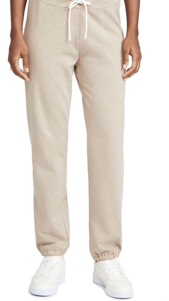 Tory Burch French Terry Sweatpants in natural