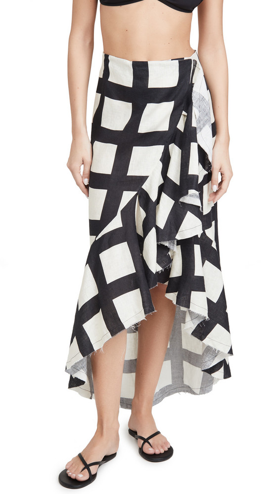 Johanna Ortiz Liberal Midi Skirt in black