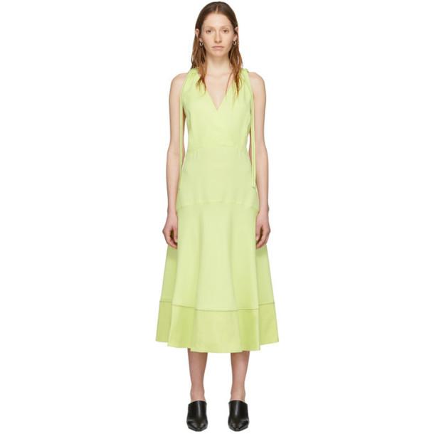 Proenza Schouler Yellow Proenza Schouler White Label Sleeveless Deep V Dress