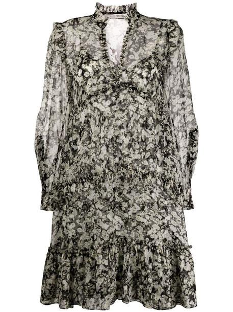Dorothee Schumacher floral midi dress in neutrals