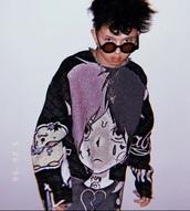 sweater,lil peep,crybaby,ripped,crewneck,anime
