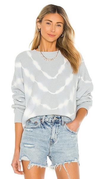 PISTOLA Eva Cropped Sweater in Slate in blue