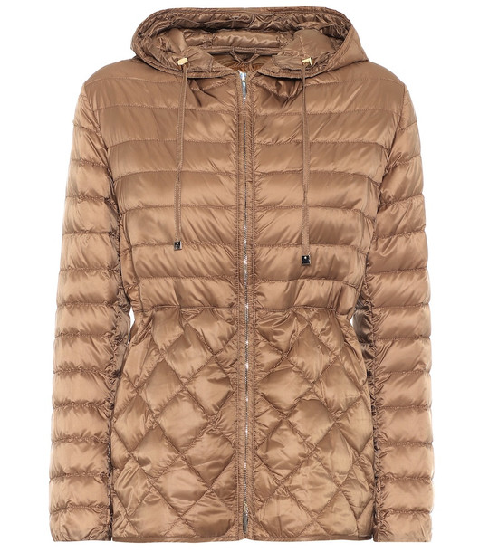 Max Mara The Cube Etresi down jacket in brown