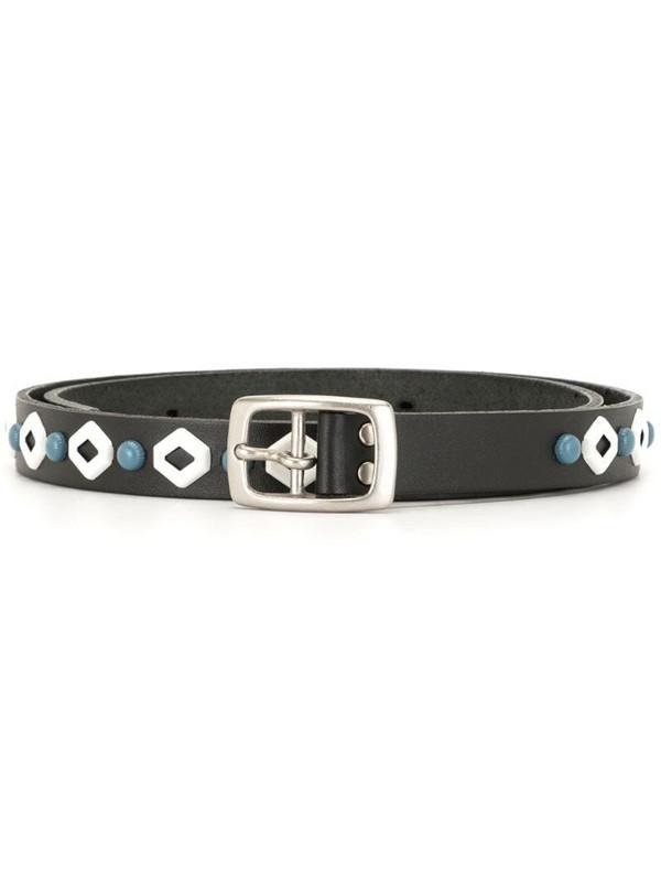 Undercover metallic accent belt in black