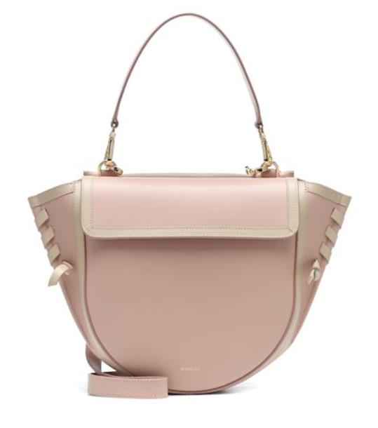 Wandler Hortensia Medium leather shoulder bag in pink