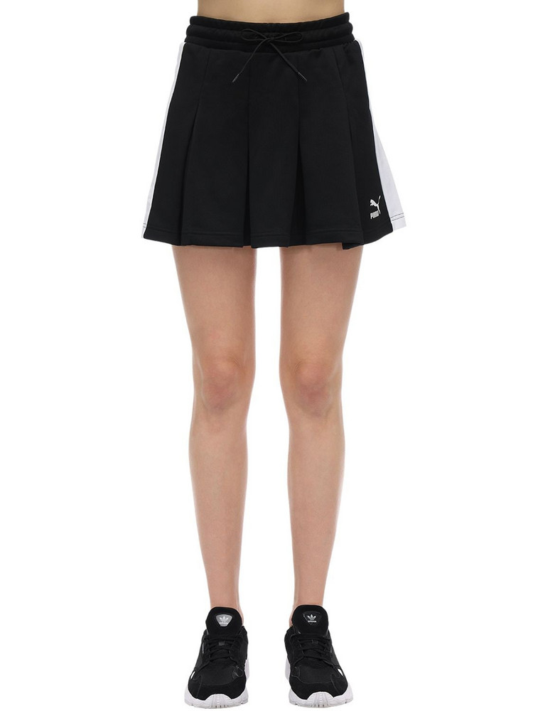 PUMA SELECT Classics T7 Pleated Cotton Blend Skirt in black