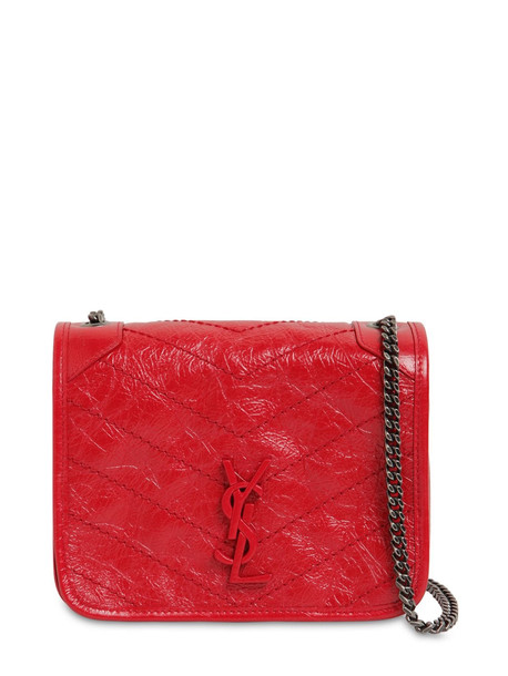 SAINT LAURENT Niki Vintage Leather Chain Wallet Bag