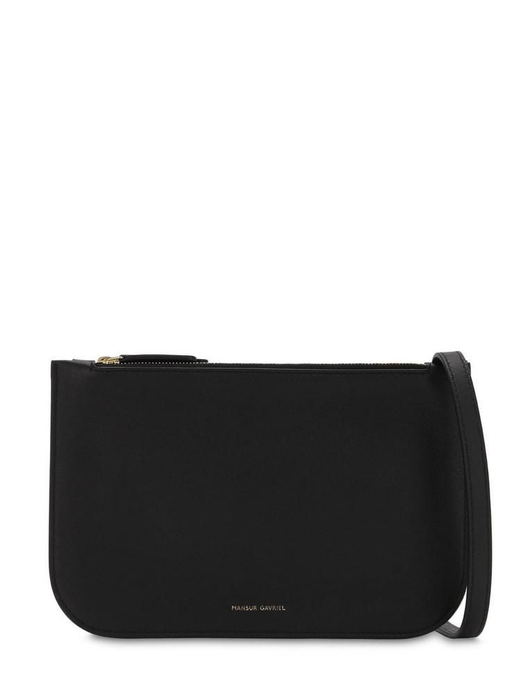 MANSUR GAVRIEL Double Crossbody Leather Bag in black