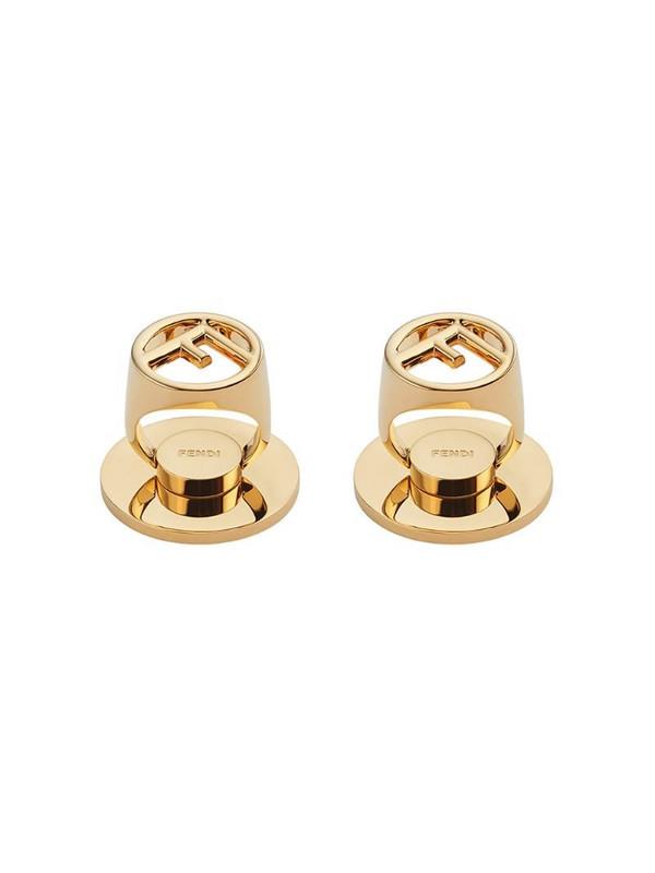 Fendi adhesive FF motif phone ring holder in gold