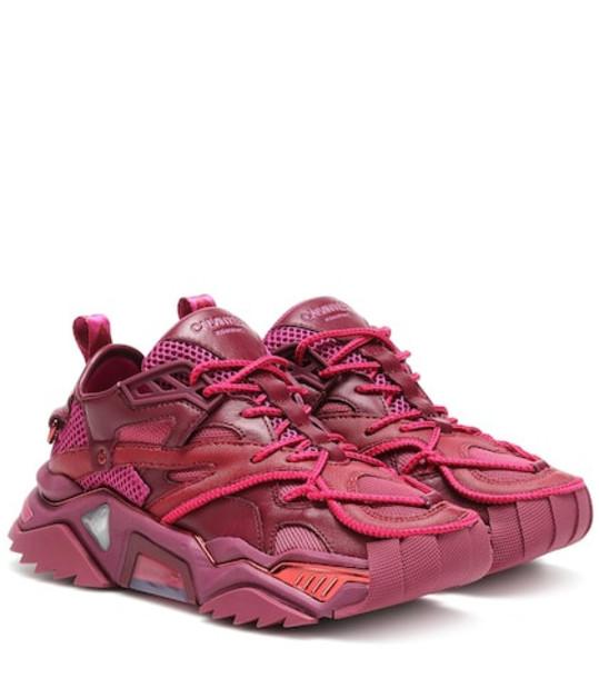 Calvin Klein 205W39NYC Strike 205 leather sneakers in purple