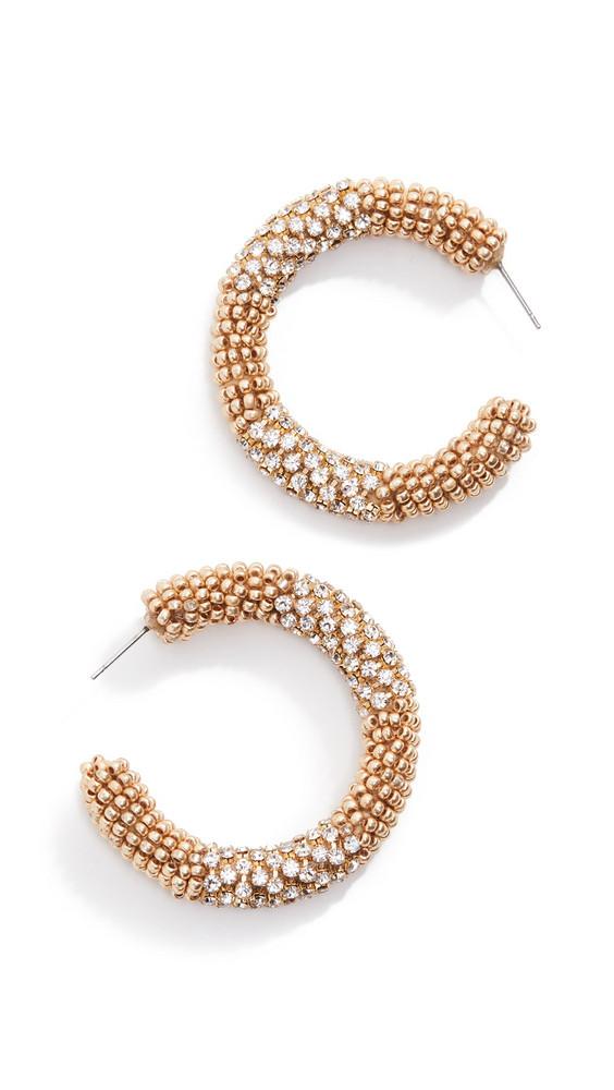 Deepa Gurnani Lana Earrings in gold
