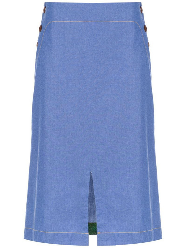 Isolda Bacuri jeans skirt in blue