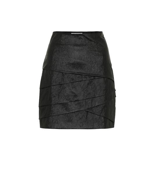 Philosophy Di Lorenzo Serafini Metallic miniskirt in black