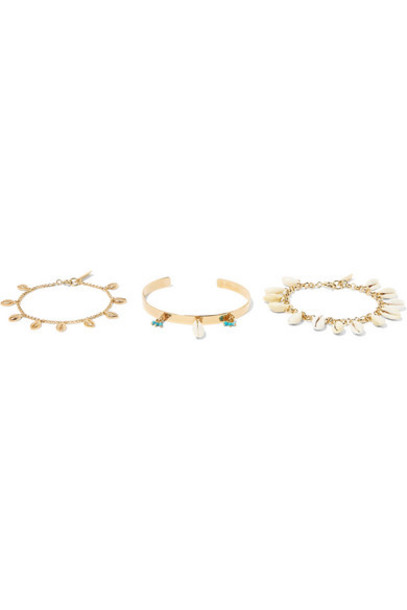 Isabel Marant - Set Of Three Gold-tone Shell Bracelets