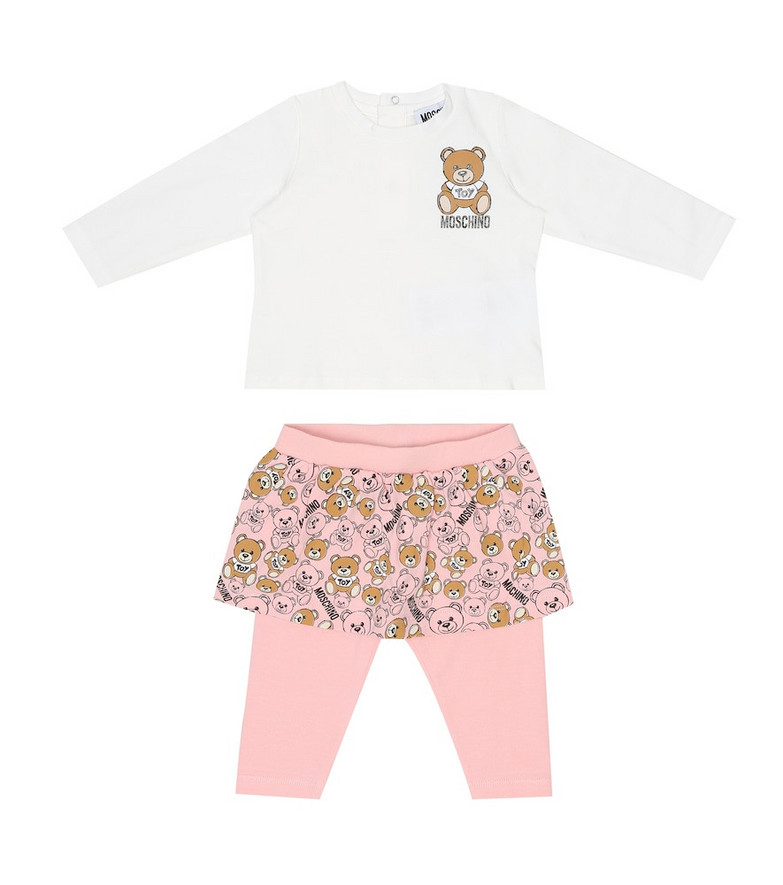 Moschino Kids Baby T-shirt and leggings set in pink