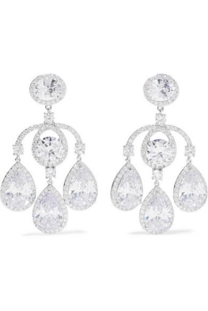 Kenneth Jay Lane - Silver-tone Cubic Zirconia Earrings