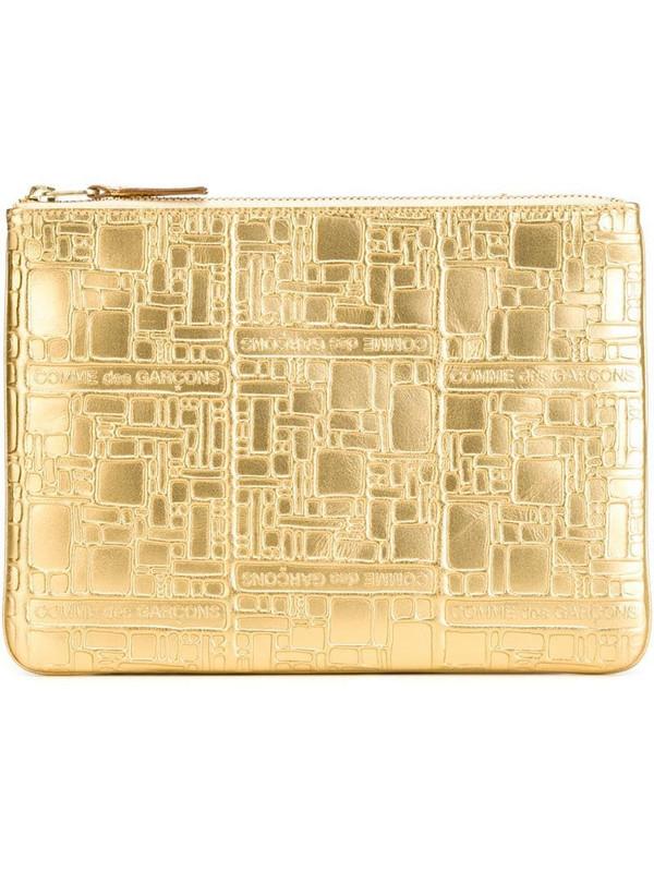 Comme Des Garçons Wallet 'Embossed Logo' purse in metallic
