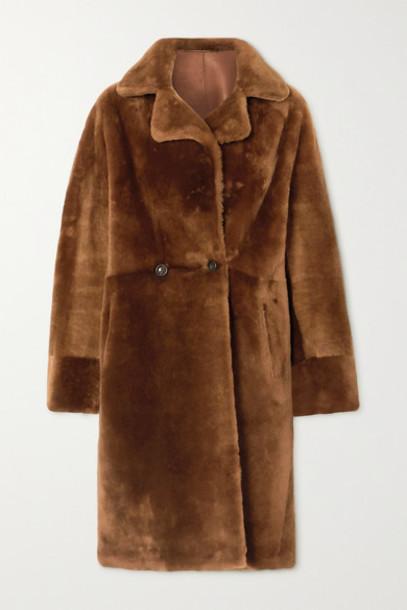 Yves Salomon - Shearling Coat - Camel