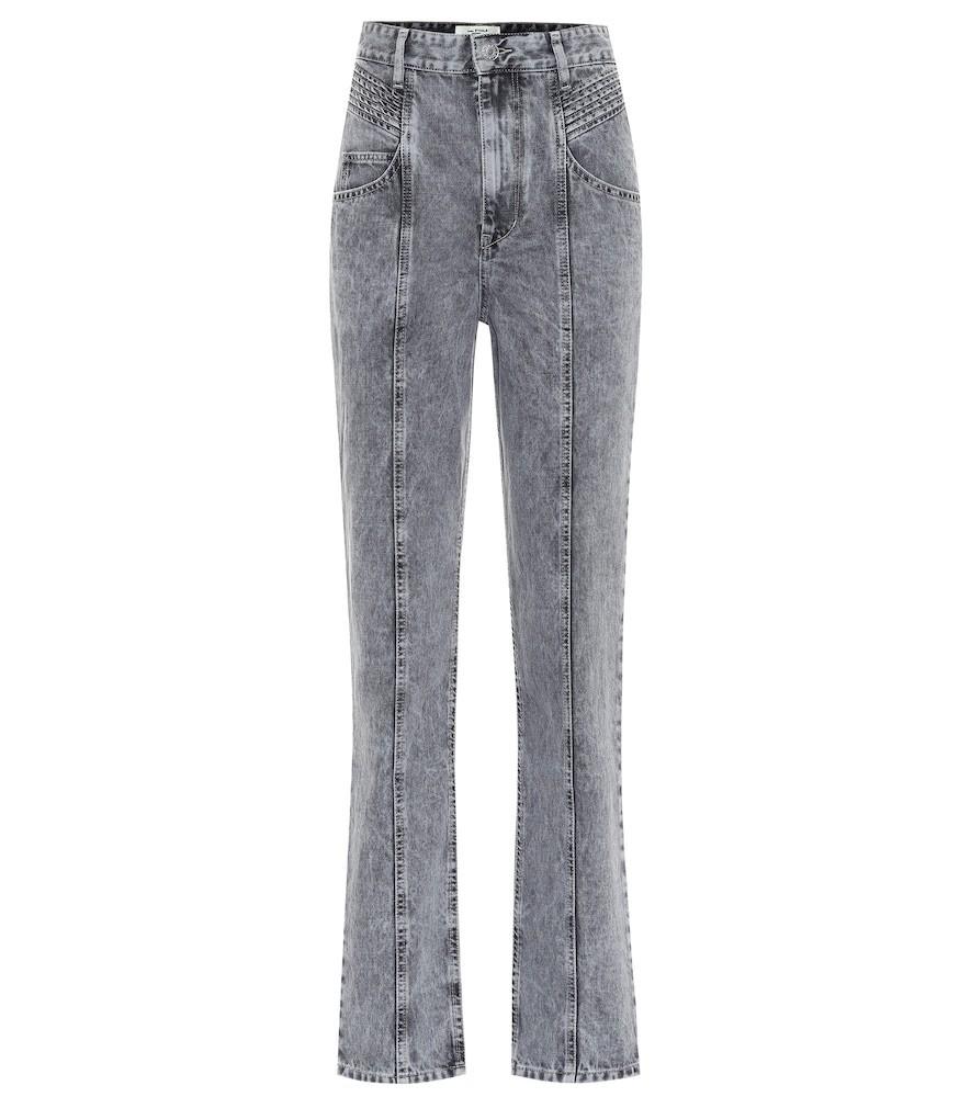 Isabel Marant, Étoile Henoya high-rise straight jeans in grey