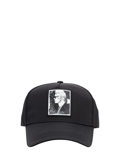 KARL LAGERFELD Karl Legend Printed Nylon Baseball Hat in black
