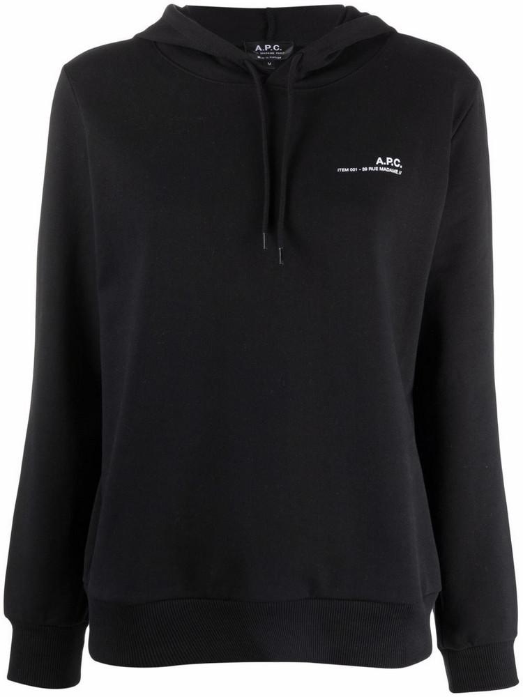 A.P.C. A.P.C. logo-print cotton hoodie - Black