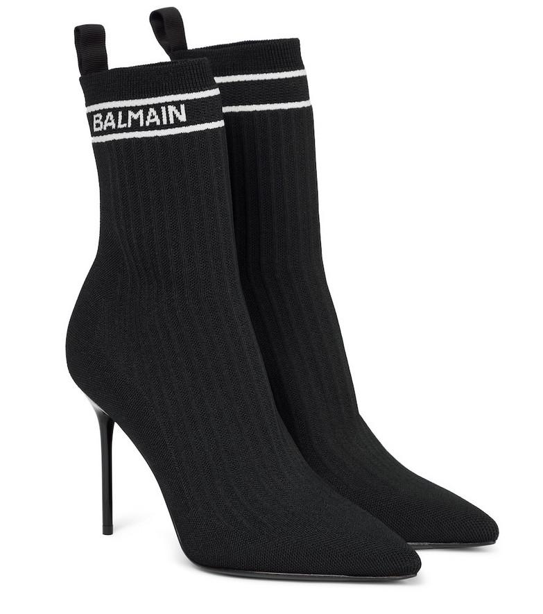 Balmain Skye sock boots in black