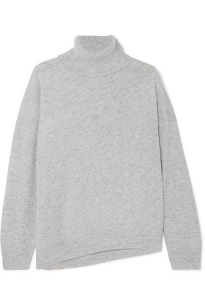 Vanessa Bruno - Melanie Wool And Cashmere-blend Turtleneck Sweater - Gray