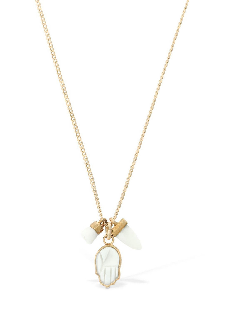 ISABEL MARANT Its All Right Charm Necklace in white