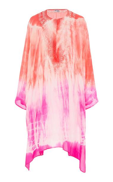 Juliet Dunn Tie Dye Silk Kaftan in pink