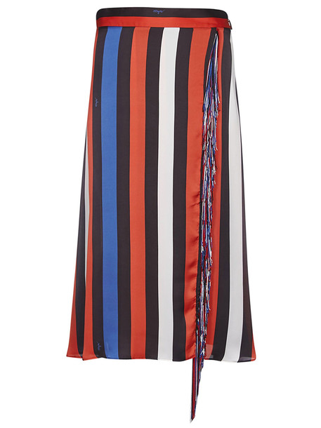 MSGM Striped Print Long Skirt