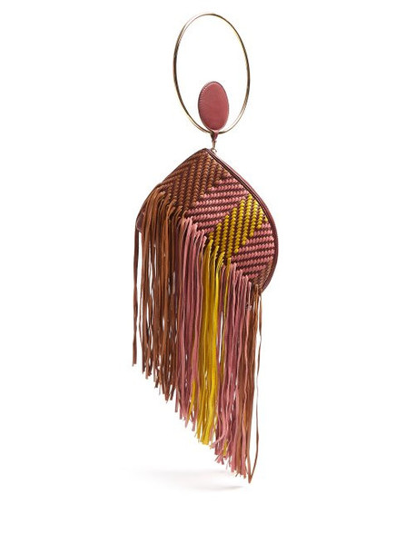 Roksanda - Eartha Striped Woven Leather Clutch - Womens - Multi