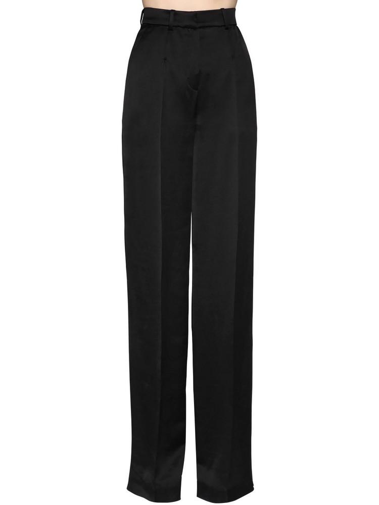 OLIVIER THEYSKENS High Waist Wide Leg Pants in black