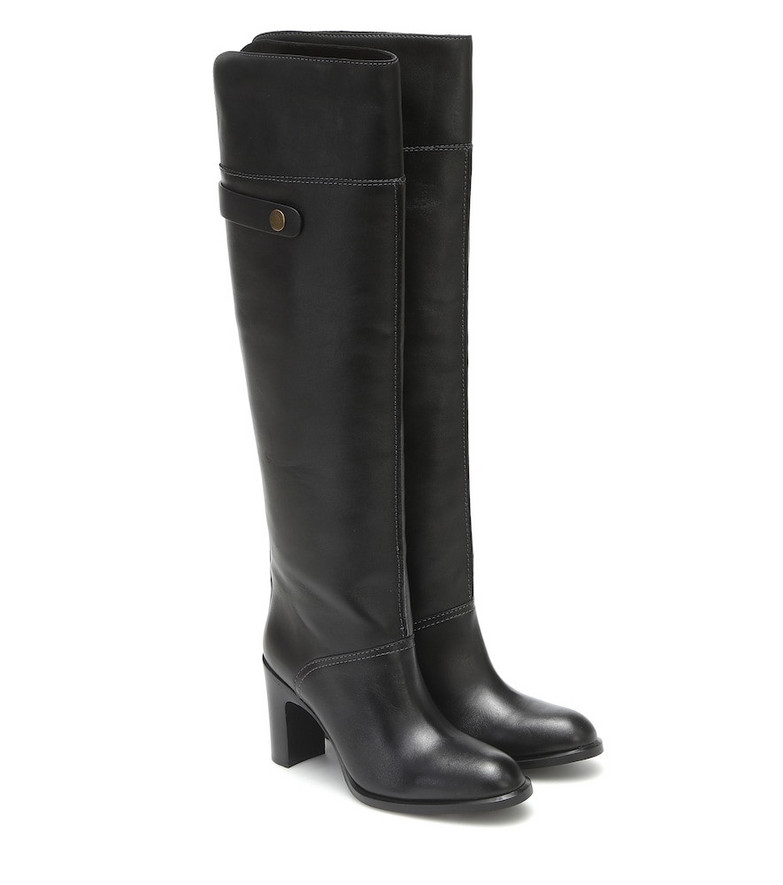 See By Chloé Leather over-the-knee boots in black