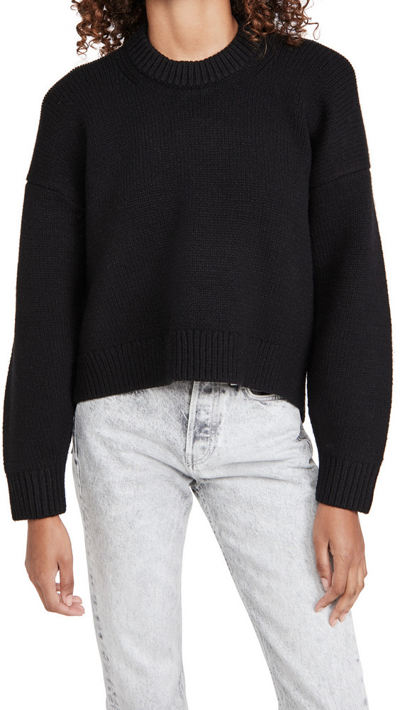 Alexander Wang Drape Back Pullover in black
