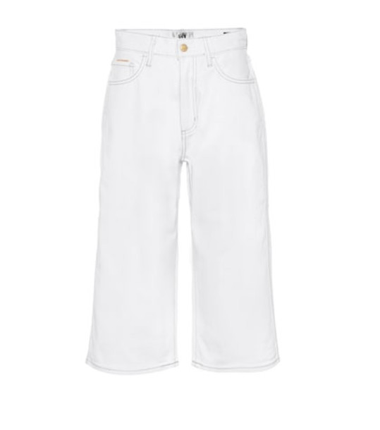 Eytys Boyle Twill high-rise wide-leg jeans in white