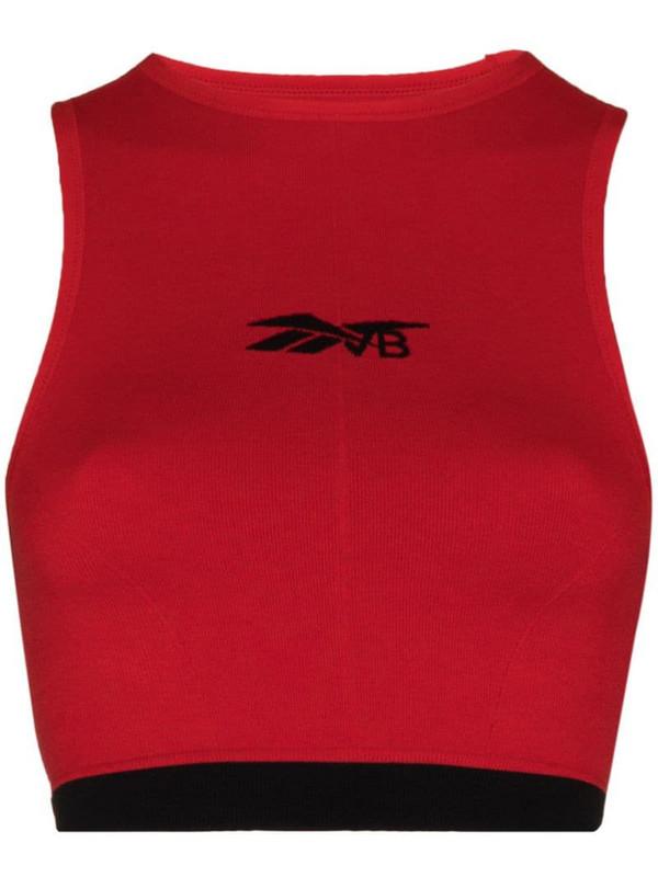 Reebok x Victoria Beckham seamless sports bra in red