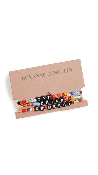 Roxanne Assoulin Eat Drink Be Merry Bracelet Set in multi