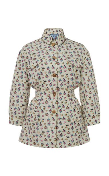 Prada Printed Silk Jacket in print