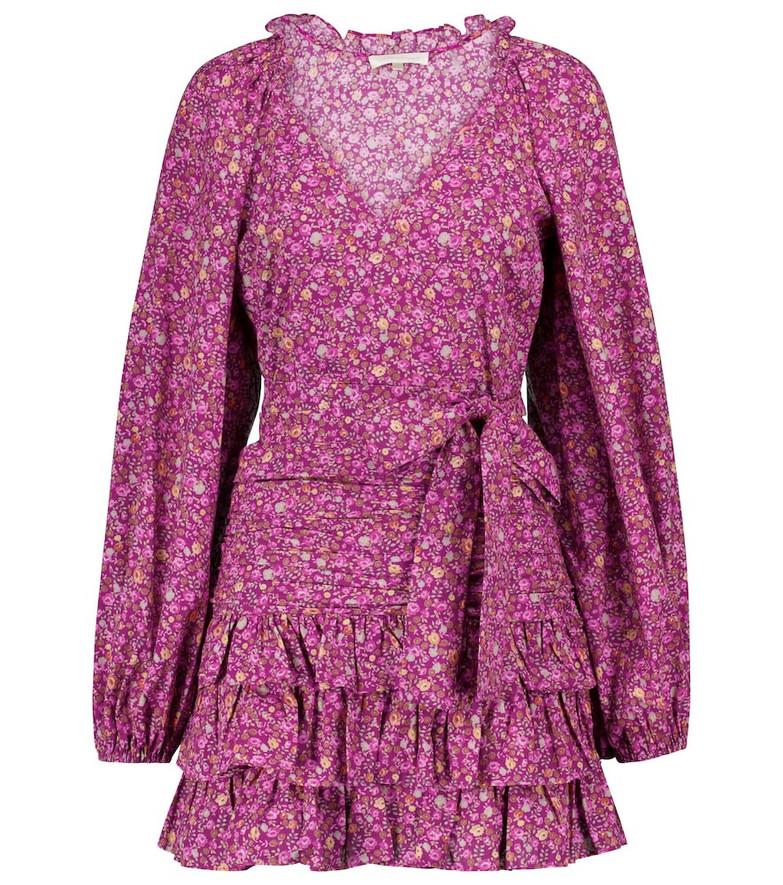 LOVESHACKFANCY Rina floral cotton minidress in pink