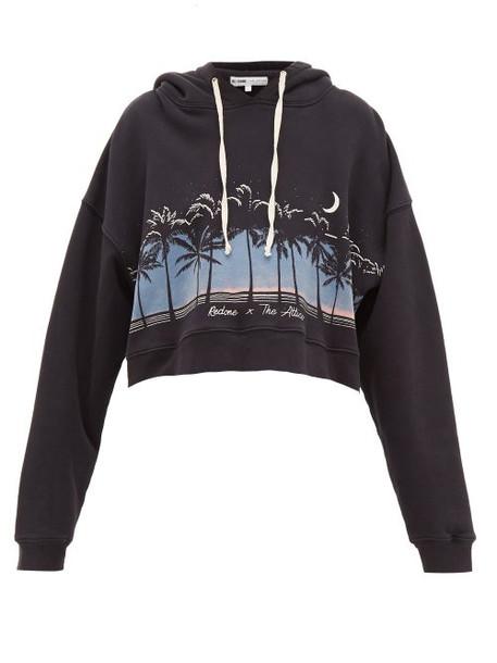Re/done Originals - X The Attico Scenery Print Hooded Sweatshirt - Womens - Black Multi