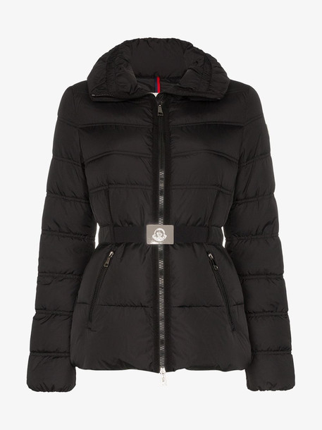 Moncler Alouette belted puffer jacket in black