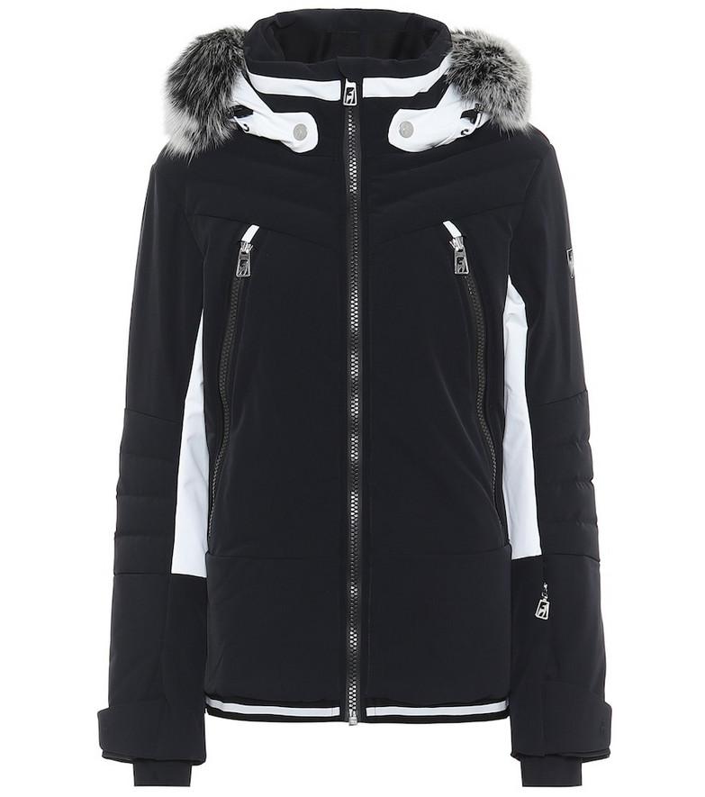 Toni Sailer Luna fur-trimmed ski jacket in black