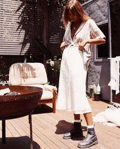 skirt,white skirt