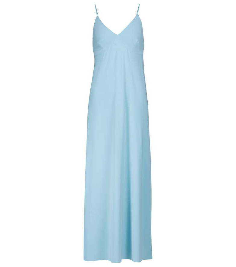 Norma Kamali Exclusive to Mytheresa – Stretch-jersey slip dress in blue