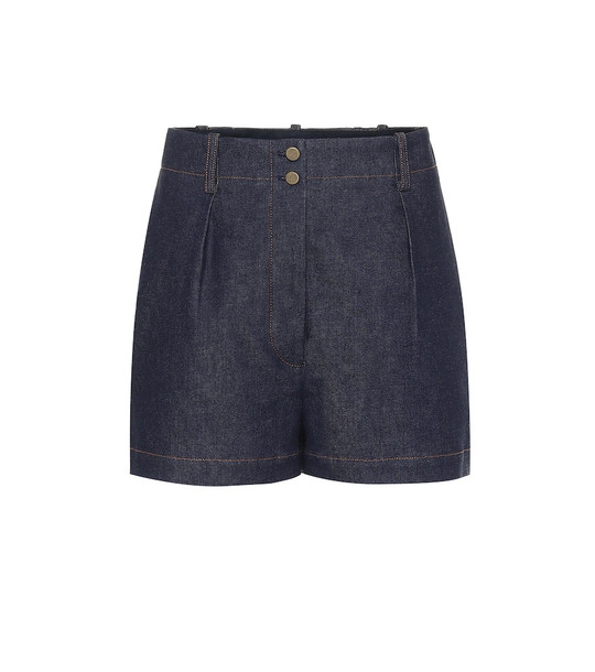 Alaïa High-rise denim shorts in blue